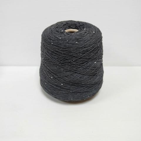 Botto Poala, Ontario, Темно-серый с пайетками, 2/60x16, 185 м в 100 г
