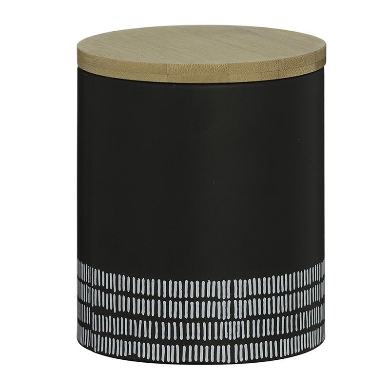 Ёмкость для хранения Monochrome средняя чёрная 1 л