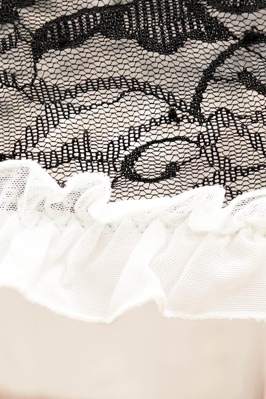Эротическая сорочка черная с открытыми плечами
