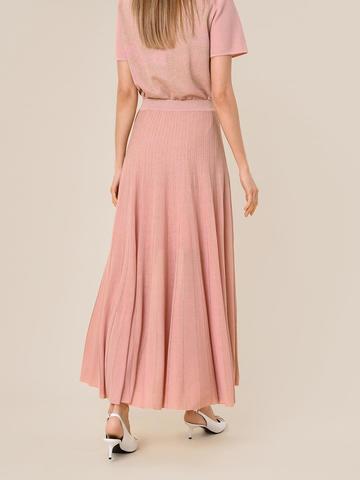 Женская юбка-плиссе светло-розового цвета из вискозы - фото 5