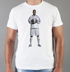 Футболка с принтом Дэвид Бекхэм (David Beckham) белая 007