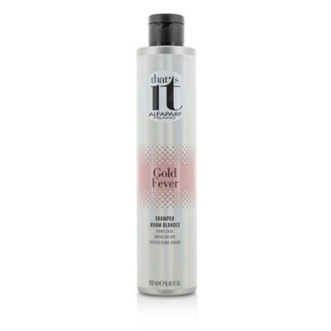 Alfaparf Milano That's It: Шампунь тонирующий для волос в теплые оттенки цвета блонд (Gold Fever Shampoo), 250мл