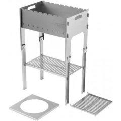 Мангал разборный Тонар со столиком под казан, в чехле, сталь 2 мм