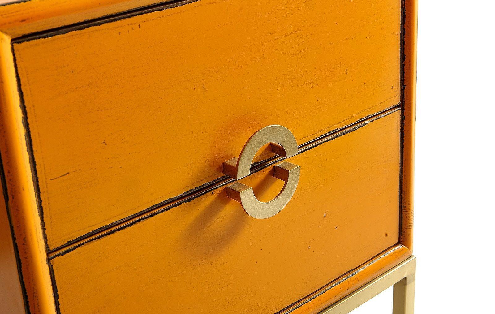 Тумба прикроватная ESF FL-7814 оранжевая