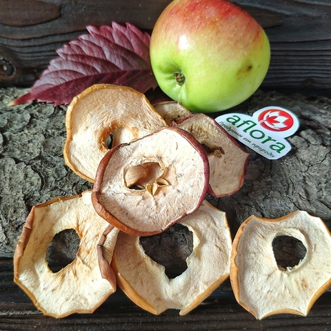 Фотография Чипсы фруктовые Яблоко с кожурой / 50 гр купить в магазине Афлора