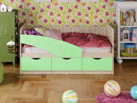 Кровать Бабочки салатовый мат.