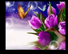 """Постер """"Фиолетовые тюльпаны"""""""