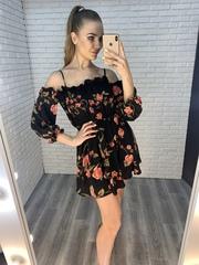 черное летнее платье недорого
