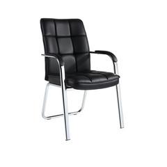 Конференц-кресло Easy Chair 810 VPU черное (экокожа/металл хромированный)