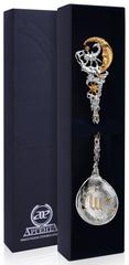 Серебряная ложка «Зодиак-Скорпион» с позолотой