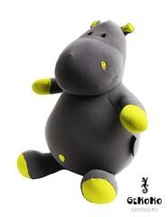 Подушка-игрушка антистресс Gekoko «Бегемот малыш Няша», желтый 4