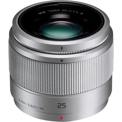 Panasonic Lumix G 25mm f/1.7 G Aspherical (H-H025AE-S) Silver