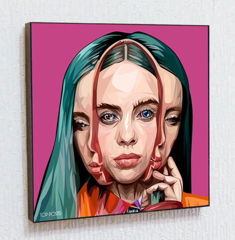 Картина постер Билли Айлиш в стиле ПОП-АРТ