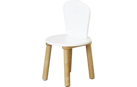 Стул  для комплекта детской мебели Polini Kids Simple 185 S, белый-натуральный