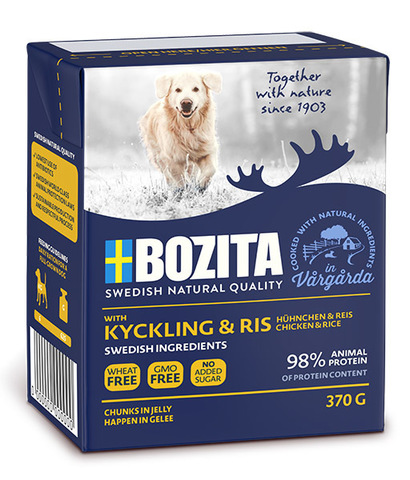 Bozita Chicken & Rice Tetra Pak Консервы для собак с курицей и рисом, кусочки в желе