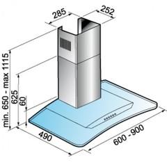 Вытяжка Korting KHC 9954 X схема