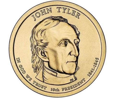 1 доллар 10-й президент США Тайлер Джон 2009 год