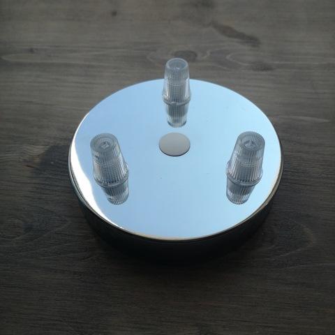Чашка потолочная на 3 вывода (Хром)