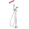 Напольный смеситель для ванны с душевым комплектом KUATRO 478502MK - фото №1