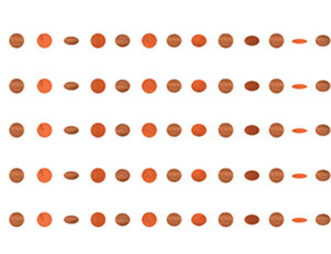 Гирлянда Круги Orange блеск