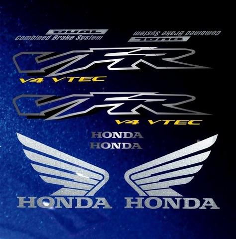 Набор наклеек на мотоцикл HONDA VFR 800I 2002 (темно-синяя версия)