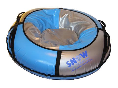 Санки-ватрушка SnowDream Classic Maxi 100 серебристо-голубая