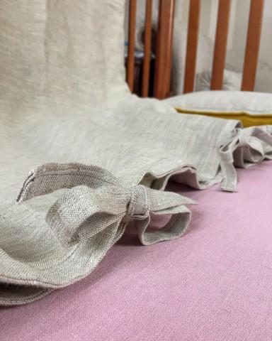 Простыня льняная для детской кровати 120 х 150 см