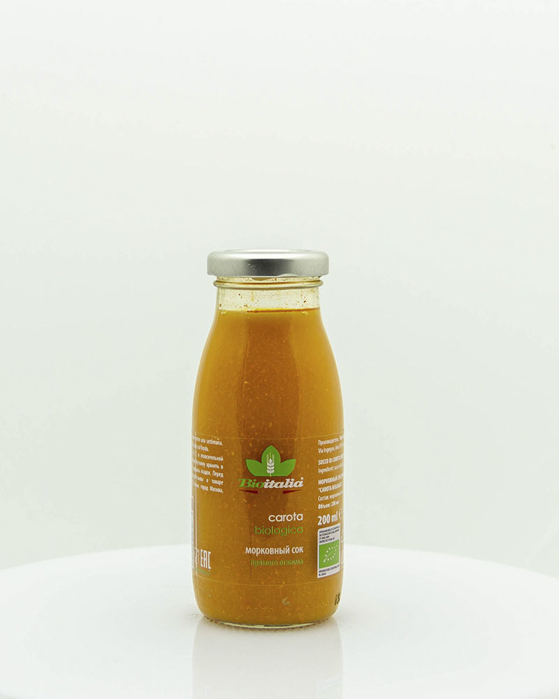 Морковный сок Bioitalia 200 мл.Морковный сок Bioitalia 200 мл.