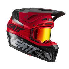 шлем Leatt 8.5 Carbon V21.1 красный M (57 - 58 см) + очки Velocity 5.5