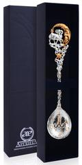 Серебряная ложка «Зодиак- Овен» с позолотой