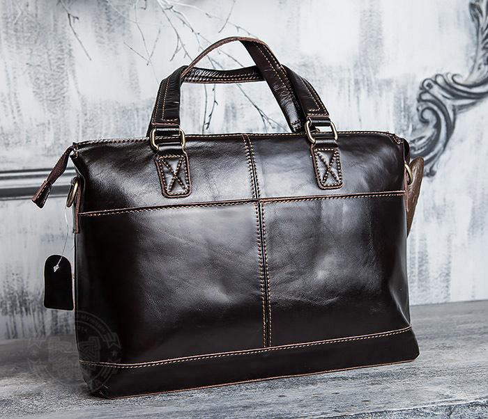 BAG418-2 Шикарная мужская сумка из натуральной кожи с ремнем на плечо