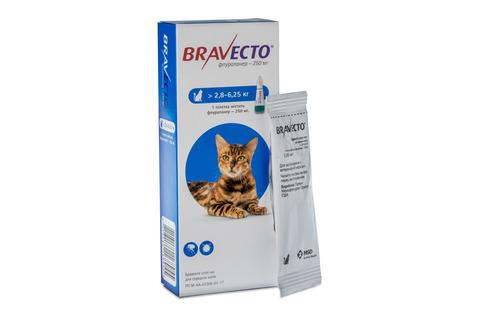 Бравекто капли для кошек 2,8-6,2 кг