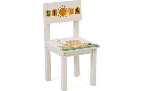 Стул детский для комплекта детской мебели Polini Kids  Disney baby 105 S, Король Лев, белый