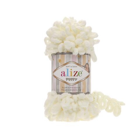 Пряжа Alize Puffy 62 кремовый