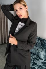 Черный брючный костюм с пиджаком интернет магазин