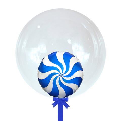 Бабл Синий Леденец 45 см