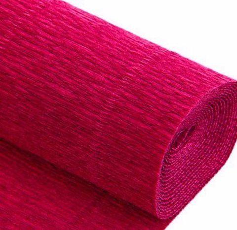 Бумага гофрированная, цвет 582 светло-вишневый, 180г, 50х250 см, Cartotecnica Rossi (Италия)