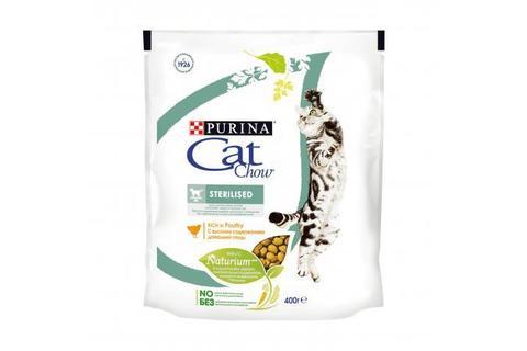 Сухой корм Purina Cat Chow для стерилизованных кошек и кастрированных котов, домашняя птица