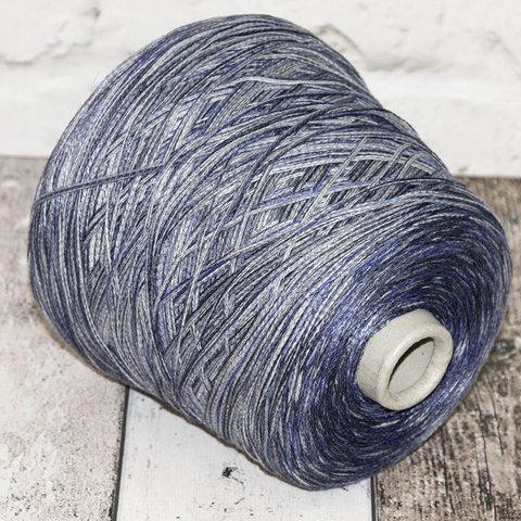 Хлопок с вискозой FASHION MILL / IKAT 230 сине-серый