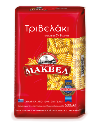 Греческая паста спиральки MAKVEL 500 гр.