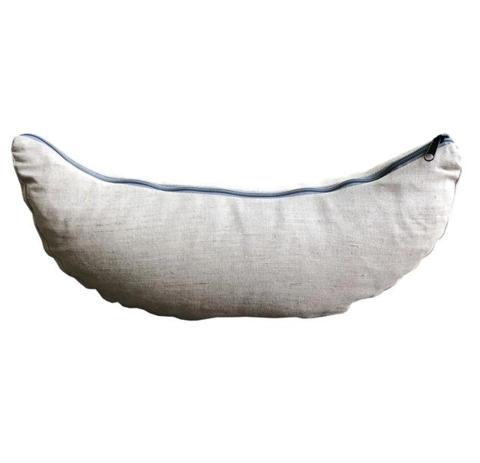 Подушка-полумесяц лен 38*15*9 см