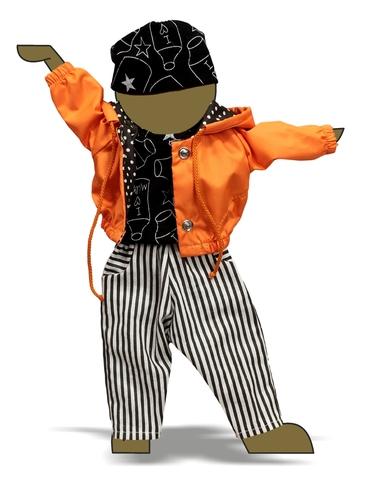 Костюм с курткой - Демонстрационный образец. Одежда для кукол, пупсов и мягких игрушек.