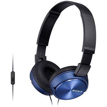 MDR-ZX310AP L наушники Sony с микрофоном, синие
