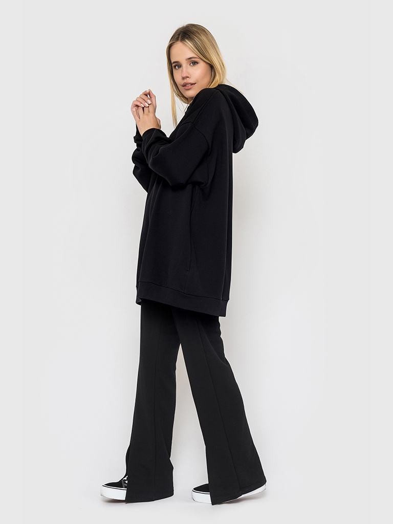 Костюм (брюки и худи) черный YOS от украинского бренда Your Own Style