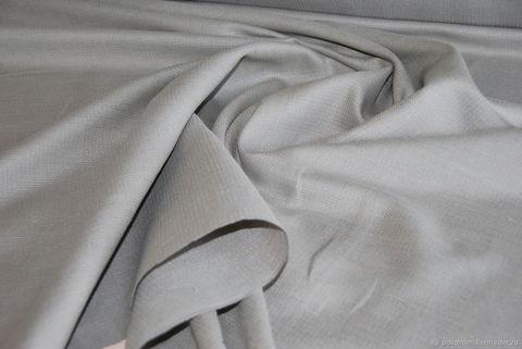 Льняная римская штора Кларин серебристый