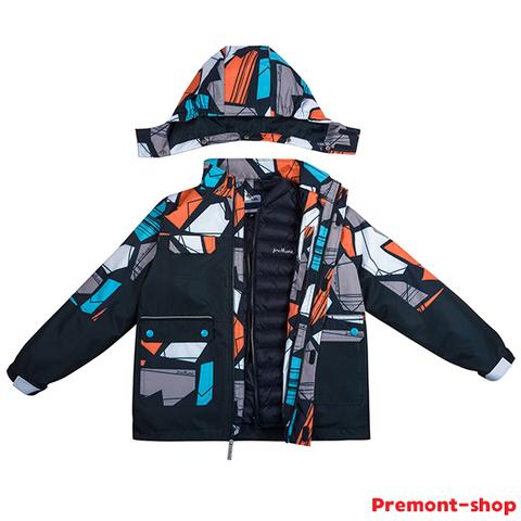 Куртка Premont для мальчиков Гурон Лэйк 3 в 1 SP72432 Black