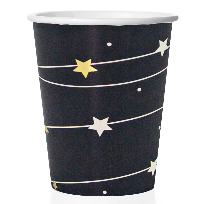 Стаканы (250 мл) Звездная траектория, Черный, 6 шт.