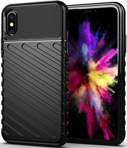 Чехол для iPhone X (XS) цвет Black (черный), серия Onyx от Caseport