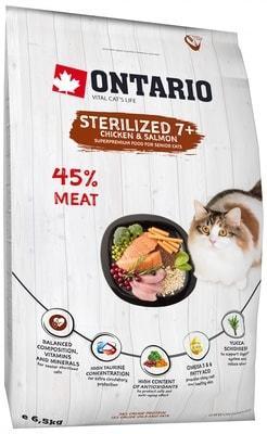 Купить Ontario Cat Sterilised 7 для пожилых кошек