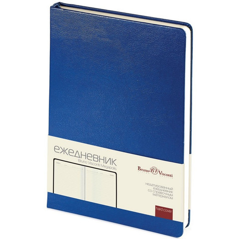 Ежедневник недат,синий,А5,145х215мм,320 стр,Br.V.MEGAPOLIS